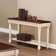 Dark Wood Sofa Table 225 50 Two Tone Console Table Console Tables 4