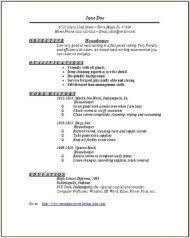 Example Housekeeping Resume by Housekeeper Resume Examples Samples Free Edit With Word