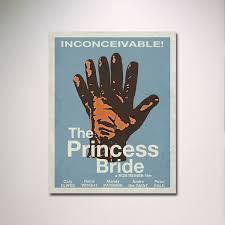 the princess bride minimalist movie poster by entropytradingco