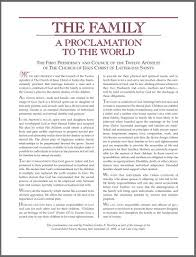 family proclamation the family a proclamation to the world lds wedding planner