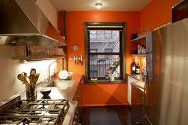 peinture orange cuisine exemple deco cuisine peinture orange