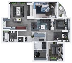 Design Apartment Layout Luxury 3 Bedroom Apartment Design Under 2000 Square Feet Includes
