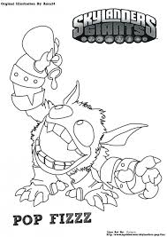 skylanders pop fizz coloring page free color page download within