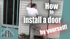 How To Replace Exterior Door by How To Install An Exterior Door Pre Hung Steel Replace A Door