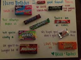 birthday poster with clever candy sayings pinterest tested