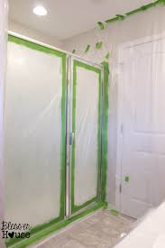 Painting Shower Door Frame How Not To Paint A Shower Door And Fix Spray Pict Of