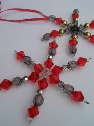 hand made star beaded christmas ornaments set of 2 4 00 via