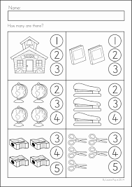 kindergarten back to math u0026 literacy worksheets and