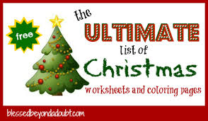 the ultimate list of christmas worksheets and christmas coloring