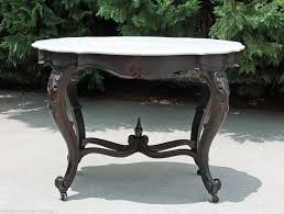 victorian marble top end table early victorian large walnut turtle top marble parlor center foyer