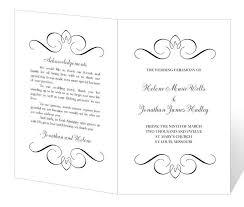 Simple Wedding Ceremony Program Free Printable Wedding Program Templates Best Business Template