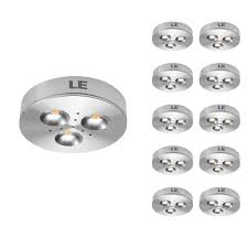 led puck lights costco pack of 10 units led under cabinet lighting kitchen cupboard light