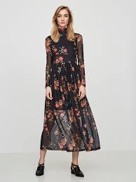 maxi kjole langærmet maxikjole vero moda