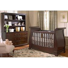 Wooden Nursery Decor by Bedroom Cool Sleigh Crib Design With Rugs And Wooden Floor For