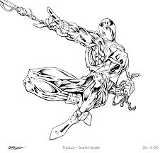 17 images of new scarlet spider coloring pages scarlet spider