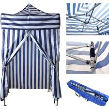 9x9 Canopy by Portable Cabana Stripe Tent Privacy Changing Room Pool Camping
