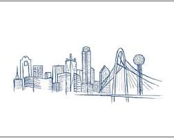 skyline drawing etsy