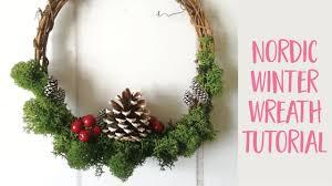 nordic winter wreath tutorial craftiosity craft kit