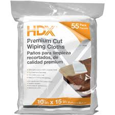 hdx 55 count 10 in x 15 in exact cut wiping cloths 4 pack w