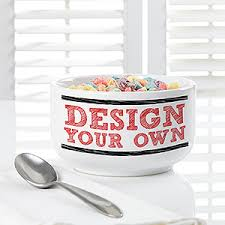 design your own personalized cereal bowls