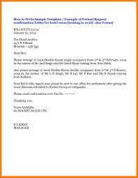 Confirmation Extension Letter Format letter format for hotel reservation