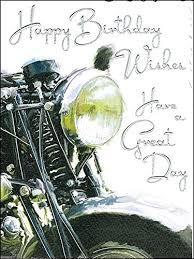 jonny javelin open male birthday card black motorbike 7 25