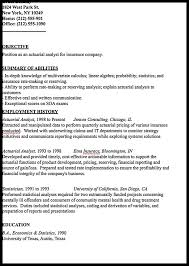 Actuary Resume Example by Actuarial Analyst Resume Sample Resumedoc