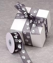 paw print ribbon sheer paw print ribbon 25 yards