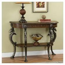 half moon table target antique entryway console table console table how to convert