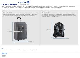 carry on size united carry on items that meets united s sizer box enforcement archive