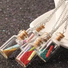 wish bottle necklace images Collares choker necklace long collier cute wish bottle necklace jpg