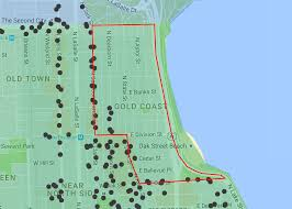 North Shore Chicago Map by How To Find Gold Coast Parking Easy Chicago Parking
