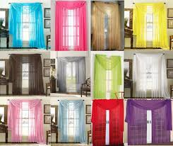 Valance And Drapes Sheer Scarf Valance Drapes Voile Window Panel Curtains 20 Diff