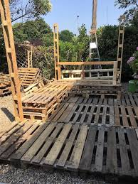 Wood Pallet Patio Furniture by Diy Wood Pallets Patio Gazebo Deck With Furniture Plan Wood