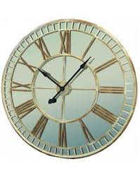 Large Mirrored Wall Clock Glamorous Large Mirrored Wall Clock With Oversized Design And