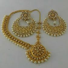 gold earrings price in pakistan buy combo of 1 pearl earrings 1 matha patti online in pakistan
