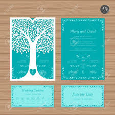 wedding invitation e card wedding invitation or greeting card with tree paper lace envelope