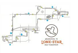 Usa Track And Field Map It by Half Marathon Lone Star Half