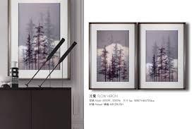 home decor painting silk printing flow heron tianyu art space