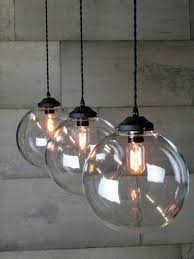 Island Pendant Lights by Triple Glass Globe Pendant U2026 Pinteres U2026