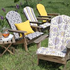 Adirondack Home Decor Beautiful Adirondack Outdoor Chair Cushion With Floral Pattern