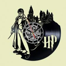 harry potter decor harry potter wizards vinyl record clock harry potter wand harry