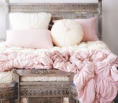 light pink and white bedding the lazybones jersey comforter tuscan pink rosettes comforter and