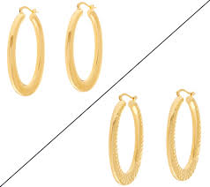 oval hoop earrings bronze 2 oval hoop earrings by bronzo italia page 1 qvc