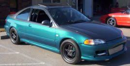 1995 honda civic ex turbo 1 4 mile drag racing timeslip specs 0 60