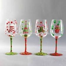 wholesale handmade wine glass with printing measures 8 x