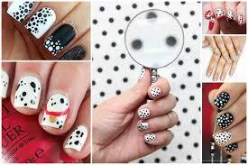 dalmatian diy spotted diy black and white polka dot nail polish