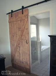barn bathroom ideas diy distressed sliding barn door hometalk