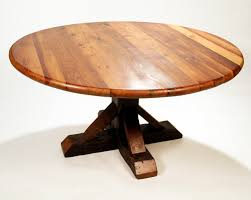 reclaimed wood dining table round antique heart pine reclaimed