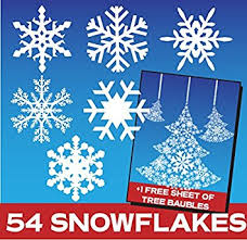 Christmas Decorations Discount Uk by 54 Snowflake Window Stickers Clings Christmas Decorations
